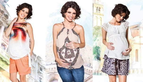 Emma Fiorezi roupas para gestante