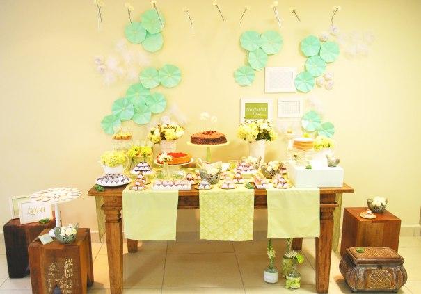 Festa em Tons de Verde e Branco