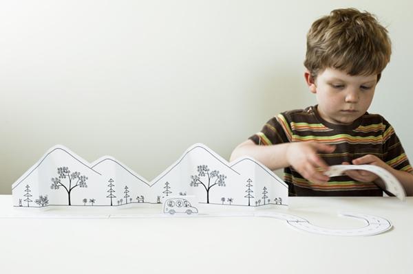 Brinquedo de Papel 5-vert
